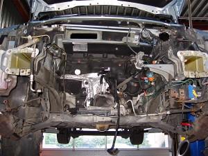 Renault 3 0 DCi uitbouwen, montage motor